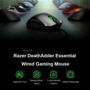 Razer DeathAdder Essential Wired Gaming Mouse 6400DPI Computer & Office Mouse & Keyboards