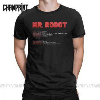 Cool Mr Robot T Shirt Programming Programmer Tees Developer Men's Clothing Shirts Tops & Tees