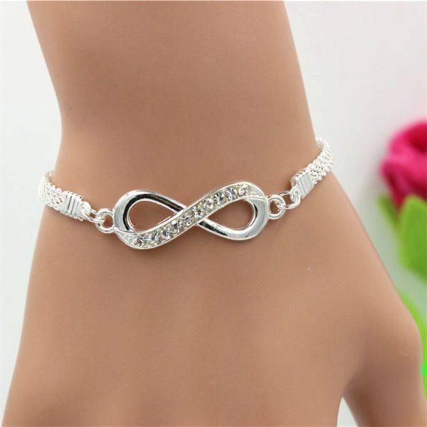 Women's Silver Infinity Chain Bracelet Women's Accessories