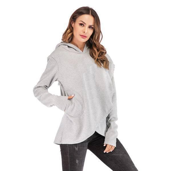 Street Fashion Pocket Sweatshirt Hoodie Hoodies & Sweatshirts Sweaters Women's Clothing