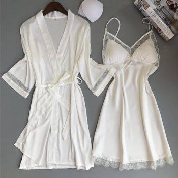Women's Lace Nightwear Set, 2 Pc Suits & Sets Women's Clothing Women's Intimates Women's Sleepwears