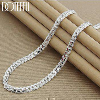 925 Sterling Silver 6mm Full Necklace Apparel Accessories Women's Accessories