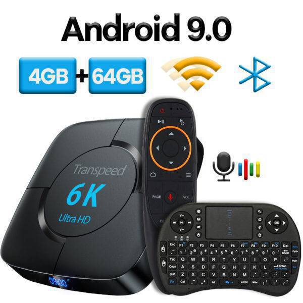 Android TV Multimedia Wi-Fi Set-top Box Computer & Office