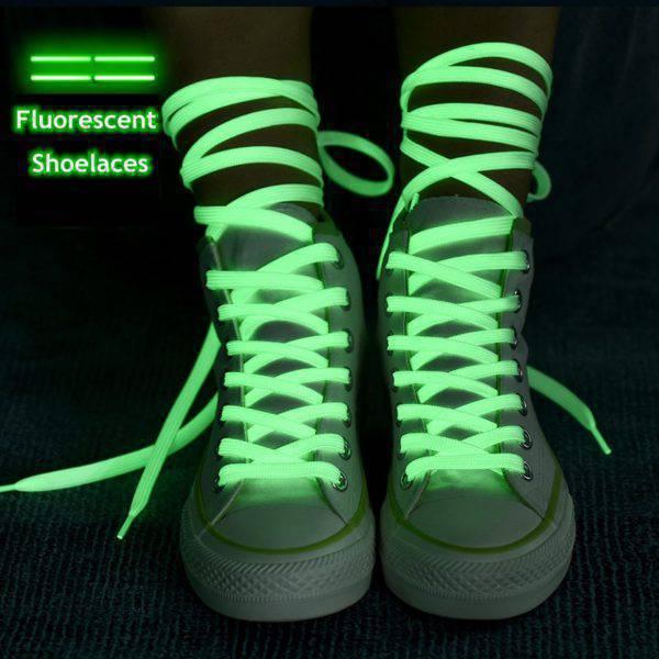 Luminous Flat Shoelaces Festive & Party Supplies Men's Accessories Women's Accessories