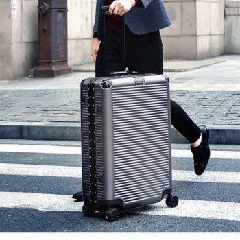 Street Fashion Aluminum Suitcase Luggage & Bags Luggage & Travel Bags Men's Bags Women's Bags