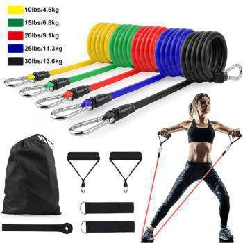 11Pcs/Set Latex Resistance CrossFit Training Exercise Elastic Bands