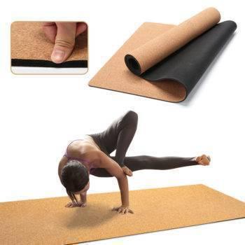 Natural Cork Yoga Mat Non-Slip Pilates