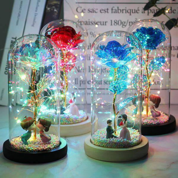 LED Enchanted Galaxy Rose Eternal 24K Gold Festive & Party Supplies Home & Garden