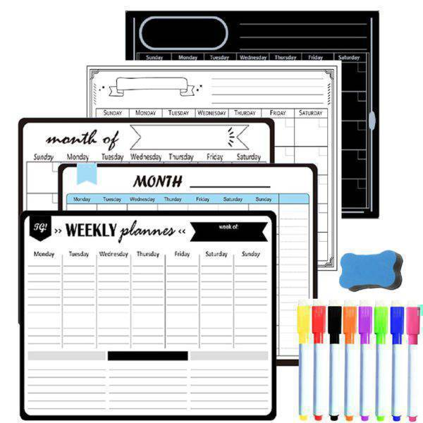 Magnetic Weekly Monthly Planner Calendar Dry Erase Board for Festive & Party Supplies Home & Garden Home Decor Kitchen,Dining & Bar