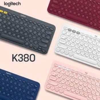 Logitech K380 Multi-device Bluetooth Wireless Keyboard Computer & Office Mouse & Keyboards Tablet Accessories
