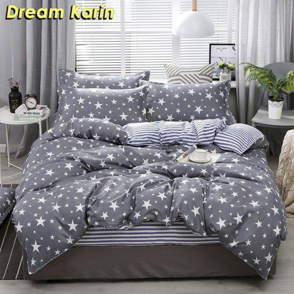 Nordic Simple Bedding Set Adult Duvet Cover Sets Home & Garden