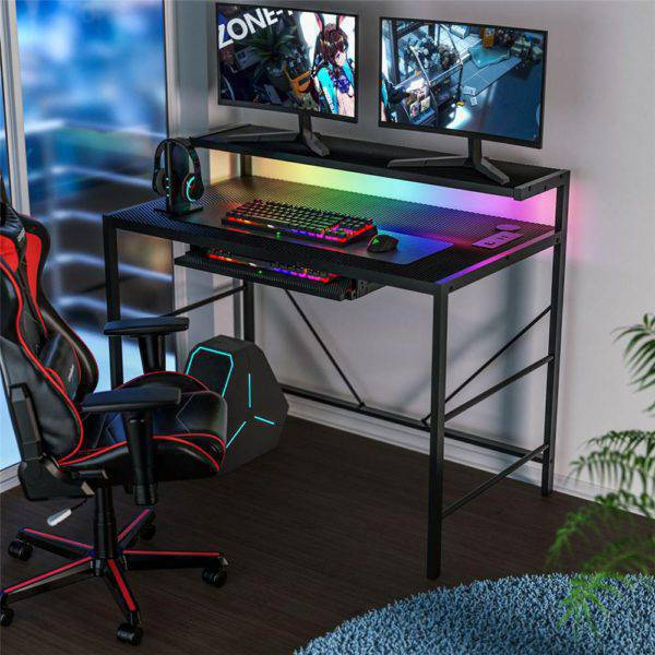 LED RGB Computer Desk Furniture for PC Gaming