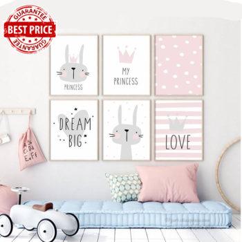 Nursery Bedroom Princess Wall art Decor