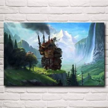 Hayao Miyazaki Howl's Moving Castle Poster