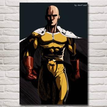 One Punch Man Cartoon Art Canvas Poster