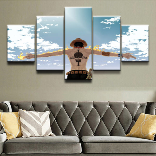 One Piece Cloud Painting Wall Art
