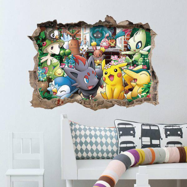 Pokemon 3D Wall Stickers