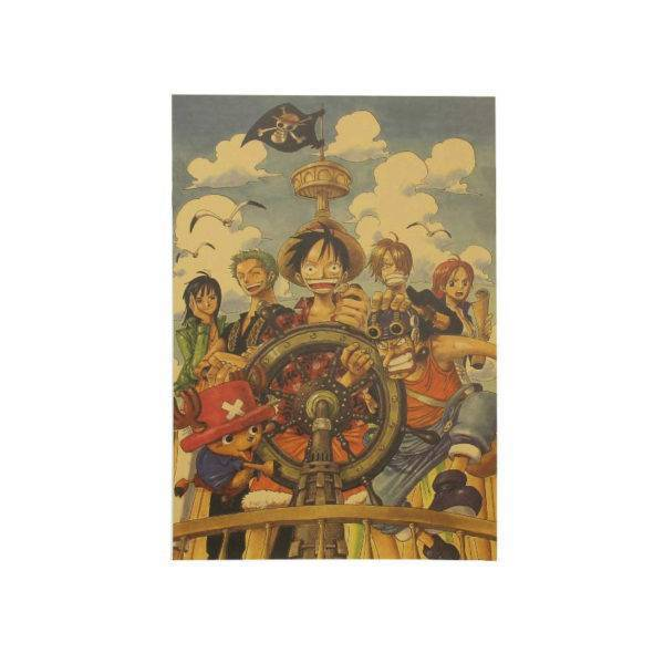 Vintage One Piece Theme Craft Paper Wall Poster